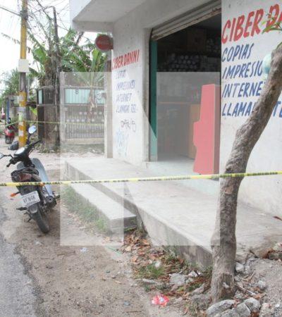 INTENTO DE EJECUCIÓN EN LA COLONIA TRES REYES: Disparan contra un joven en un 'ciber' en asentamiento irregular de Cancún