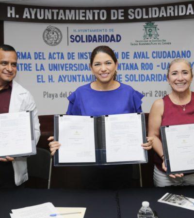 Firman acuerdo Ayuntamiento de Solidaridad y la Uqroo para supervisar unidades médicas y mejorar atención