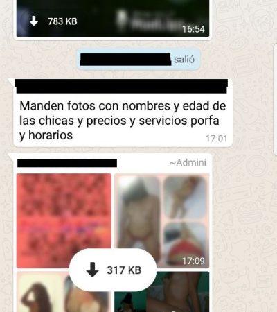 Prostituyen a menores de edad en grupos de Whatsapp de Cancún