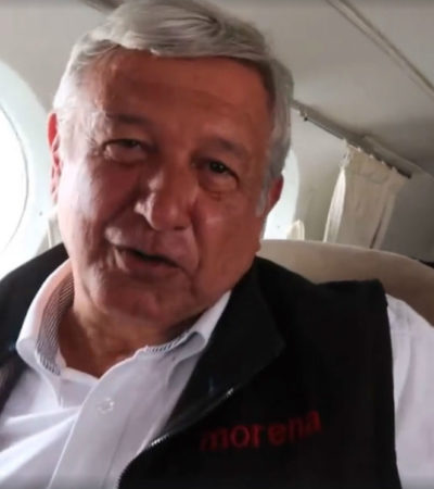 AMLO publica video en sus redes sociales donde se ve que viaja en avioneta y provoca polémica