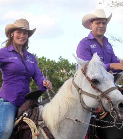 SUBEN A NIURKA AL CABALLO: Ante inminente rompimiento del PES en la alianza 'Juntos Haremos Historia', esposa de Greg Sánchez se perfila como candidata en Cancún