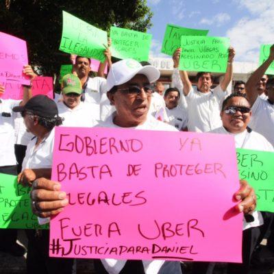 Ante consulta popular para tema Uber en Cancún, aprobada por el Ieqroo, el sindicato de taxistas 'Andrés Quintana Roo' analiza acciones legales a emprender