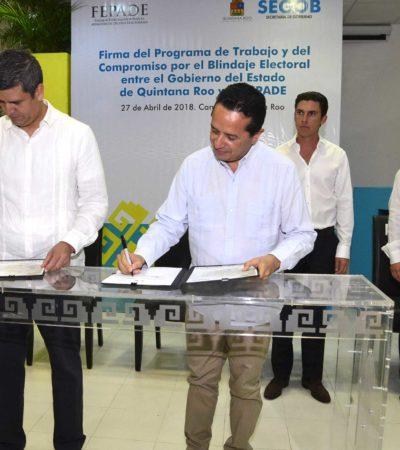 """""""EL ÉXITO DE NUESTRA DEMOCRACIA DEPENDE DE TODOS"""": FEPADE y Gobierno de QR firman acuerdo para blindar elecciones"""