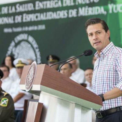 Visita EPN Mérida, inaugura Hospital Militar y refrenda compromiso de defender dignidad de mexicanos ante ataques de Trump