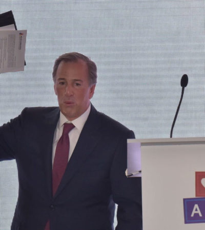 SE OBSESIONA MEADE CON AMLO: Insiste candidato del PRI que el morenista es un 'peligro' para México