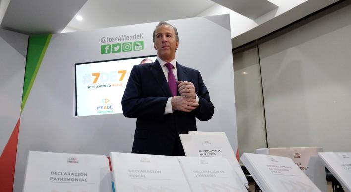 PRESENTA MEADE '7 DE 7': Declara candidato del PRI 2.3 mdp de ingresos anuales