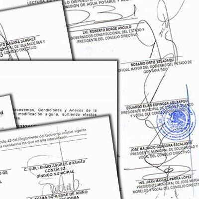 PRESENTAN DENUNCIA POR LESIVIDAD CONTRA AGUAKÁN: Da Ayuntamiento de Solidaridad el primer 'balonazo' legal para buscar revertir la concesión de agua potable entregada por Borge y su pandilla