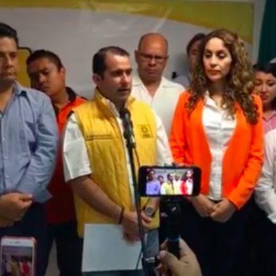 Coalición de PAN-PRD-Movimiento Ciudadano no ha presentado candidato a la presidencia municipal de Benito Juárez, a unas horas de que venza el plazo fijado