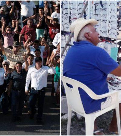 Marybel Villegas marcha en Cancún y José Luis Pech inicia campaña en Bacalar