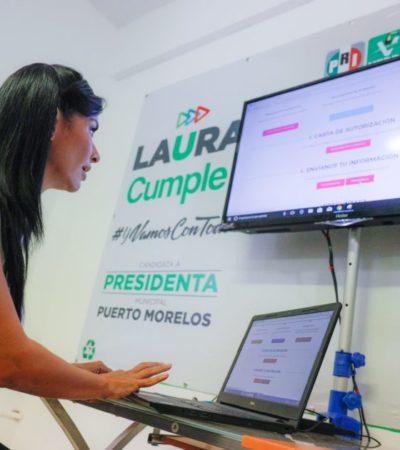 Presenta Laura Fernández su declaración 3 de 3 en el inicio de su campaña electoral