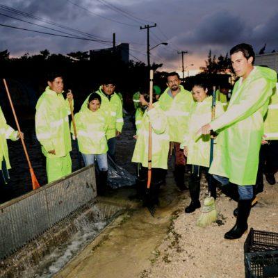 Supervisa Alcalde labores de auxilio a la población afectadas por lluvias