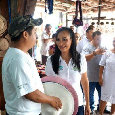 Impulsar a los productores del campo, artesanos y emprendedores para apostarle a otros rubros: Laura Fernández