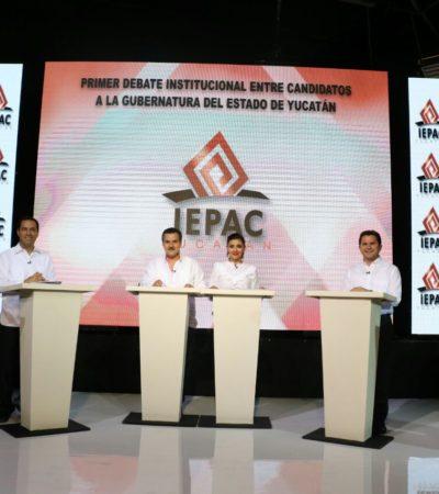DEBATE YUCATECO: Candidatos a la gubernatura confrontan propuestas