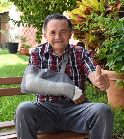 Por fractura en el brazo, candidato Pech Várguez no acudirá al debate de la Coparmex