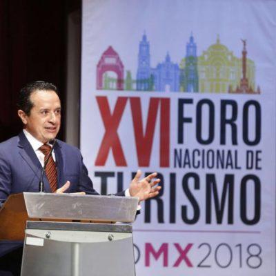 PARTICIPA GOBERNADOR EN FORO NACIONAL DE TURISMO: Dice Carlos Joaquín que la industria sin chimeneas es motor del crecimiento económico y palanca de desarrollo para comunidades rurales
