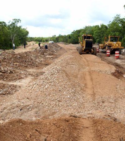 Inician pavimentación de las avenidas 135 y Durango en Cancún
