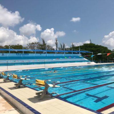 Modificarán flujo de alberca olímpica de Cancún para la Olimpiada y Campeonato Juvenil 2018