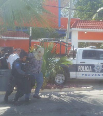 ENFRENTAMIENTO Y CAPTURA EN EL EJIDO: Detienen policías a ocho presuntos asaltantes tras persecución y balacera en Playa del Carmen