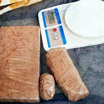 Cae sujeto con kilo y medio de cocaína en Paseos del Mar