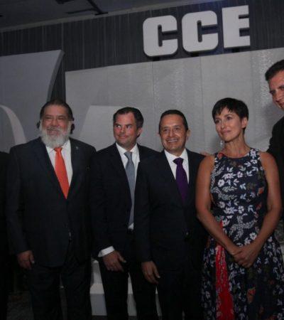 ANIVERSARIO DEL CCEC: Convoca Carlos Joaquín a la IP aseguir trabajando en equipo por Quintana Roo