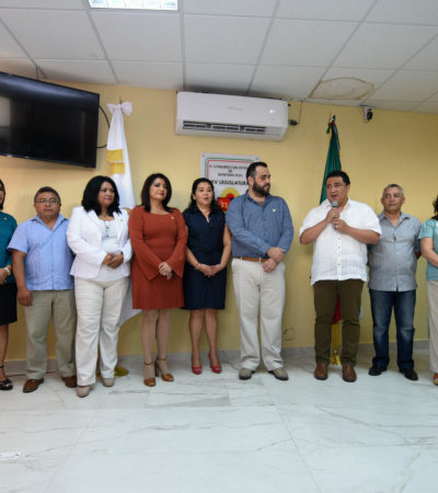 Entrega Congreso donativo anuala la Cruz Roja Chetumal