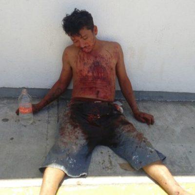 Denuncian brutal golpiza, supuestamente de policías municipales, en Chetumal