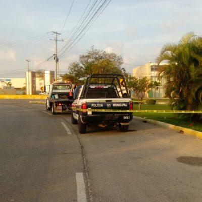 Atacan a balazos patrulla municipal en la Huayacán de Cancún