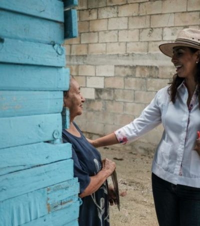 Marybel Villegas promete legislar para duplicar el monto de pensiones para adultos mayores quintanarroenses