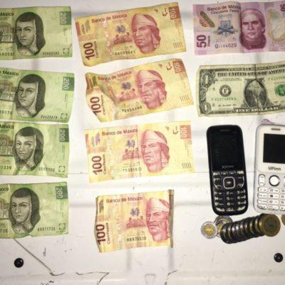 Detienen a presunto ladrón que portaba arma de fuego, en Tulum