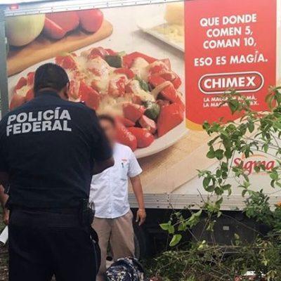 Botín de 115 mil pesos en asalto a camión repartidor de alimentos en la carretera Cancún-Mérida