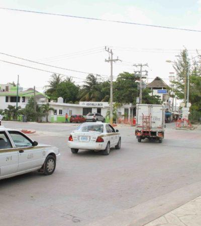 Concluyen trabajos de repavimentación y se normaliza circulación vehicular en Casco Antiguo de Puerto Morelos