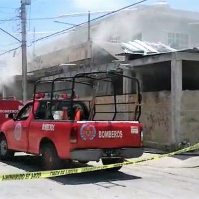 Se incendia vivienda en la SM 227 en Cancún
