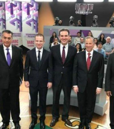 EL DEBATE QUEDÓ A DEBER: Ganan las acusaciones entre candidatos a la Presidencia en el segundo encuentro organizado por el INE