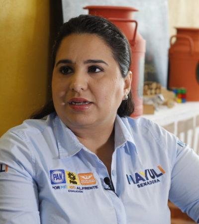 """ENTREVISTA   """"LOS CANDIDATOS DE MORENA SE COLGARÁN A AMLO"""": Mayuli Martínez Simón, candidata al Senado por el 'Frente, dice que sus rivales no tienen las mejores propuestas y muchos de ellos no son ni bien vistos, pero se aferrarán al efecto 'Peje'"""
