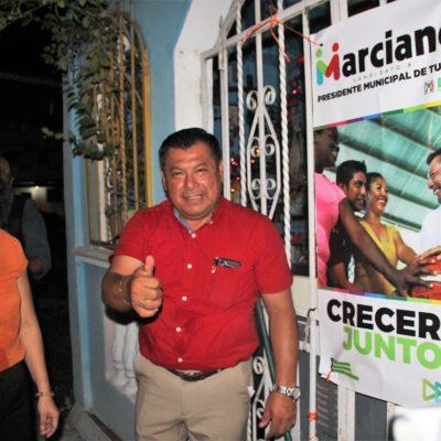 Arranca Marciano Dzul campaña a la medianoche en Tulum