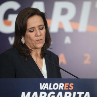 Margarita Zavala presentó su carta de renuncia al INE