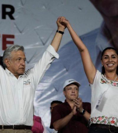 Marybel Villegas apoyará la construcción del tren transpeninsular que beneficiaría a todo el estado