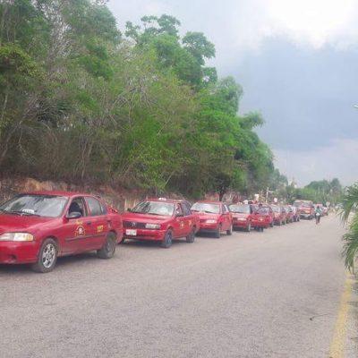 Taxistas de José María Morelos también se unen a la lucha contra la Ley de Movilidad