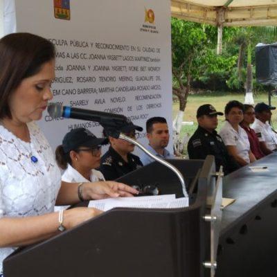 Ofrece Alcaldesa disculpas públicas a seis mujeres policías que sufrieron acoso sexual, laboral y discriminación