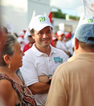 Seguridad, el reclamo más sentido de los cozumeleños a Pedro Joaquín durante recorridos por colonias