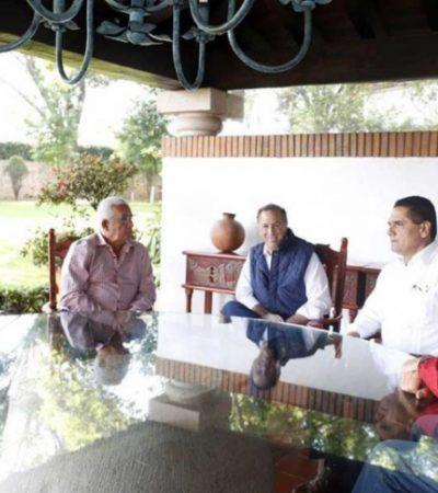 Silvano Aureoles recibe a José Antonio Meade en Morelia