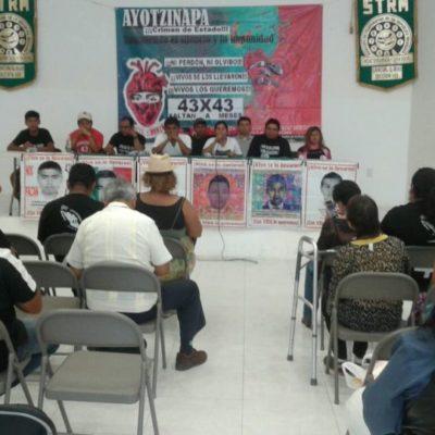 AYOTZINAPA SIGUE SIN JUSTICIA, LA LUCHA CONTINÚA: Padres de los normalistas desaparecidos, desde en Cancún, siguen en pie de lucha cuatro años después