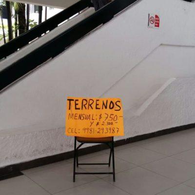 Con 250 pesos, obtiene permiso de Comercio en la Vía Pública para vender terrenos en Palacio Municipal de BJ