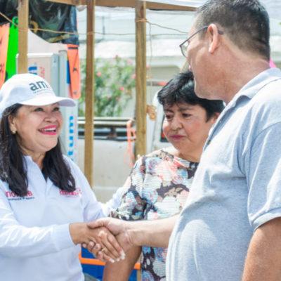 Mejorar las condiciones de vida y generar empleo, considera Mildred Ávila, ayudará a abatir la inseguridad en Quintana Roo