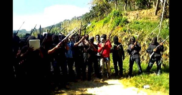 Encapuchados entran a Pueblo Nuevo Solistahuacán y advierten: Usarán las armas para recuperar sus tierras
