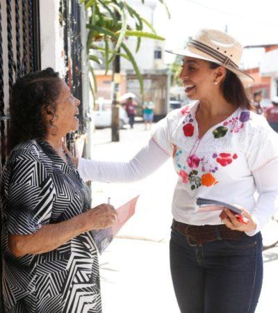 Marybel Villegas, como AMLO, aumentarán el salario mínimo, ofrece