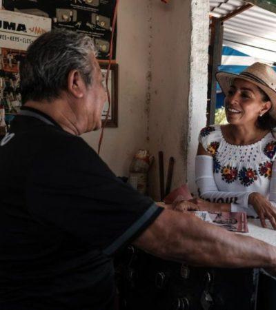 Suma Marybel Villegas 249 kilómetros recorridos durante su campaña en QR