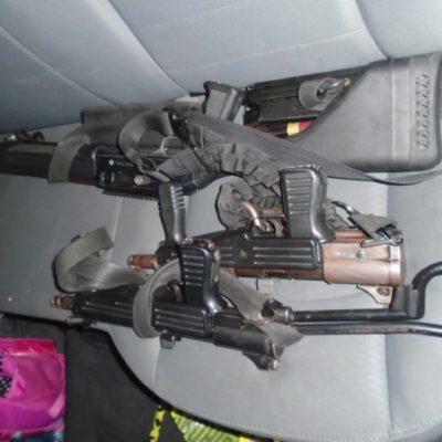 """Armas largas, cartuchos de escopetas y chalecos blindados aseguran a guardias de """"La Premier"""""""