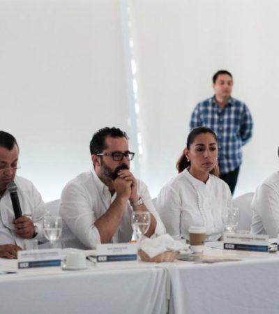 Transparencia y rendición de cuentas, compromisos de Marybel Villegas con el Consejo Coordinador Empresarial del Caribe