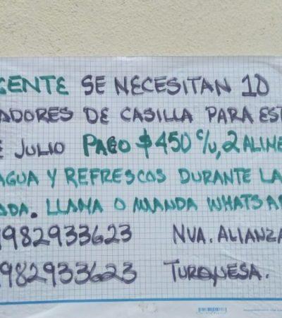 ¿Quiere ganar $450 pesos el próximo 1 de julio? Busque a 'Don Paco' y cuide casillas para Nueva Alianza